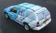 Ford Escort Estate - designed and wrapped by Totally Dynamic North London