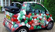 Mama Bellis Smart Car - wrapped by Totally Dynamic North London