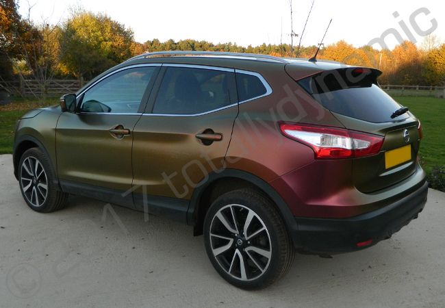 Totally Dynamic Nissan Qashqai Vinyl Wrapped In Rising