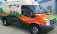Ford Transit Van vinyl wrapped for the Hogs Back Brewery