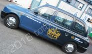 Taxi cab fully vinyl wrapped for the London Stock Exchange