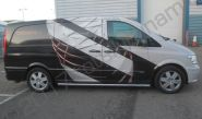 Mercedes Vito van vinyl wrapped for NIKE Tiempo