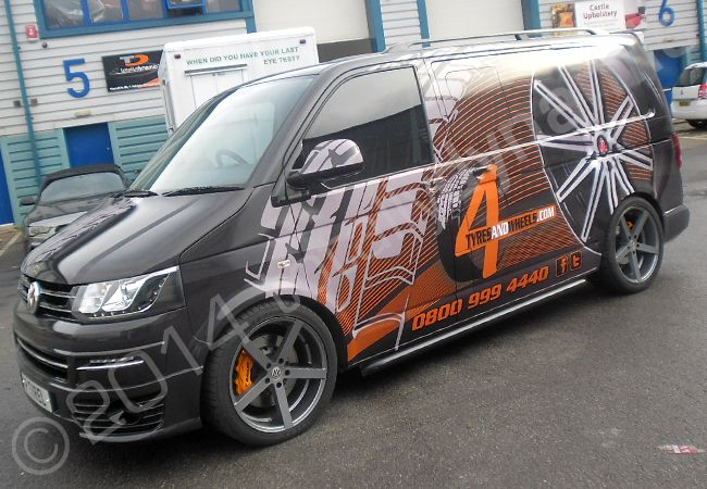 Totally Dynamic Vw Transporter Fully Vinyl Wrapped In A
