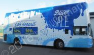 Double Decker Bus vinyl wrapped for STA Travel