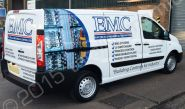 Citroen Dispatch part-wrapped for EMC in a printed vinyl vehicle wrap design by Totally Dynamic Norfolk