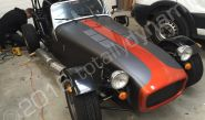 Caterham vinyl wrapped in matt metallic grey vinyl