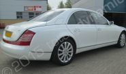 Maybach 57 fully wrapped in a gloss white vinyl car wrap by Totally Dynamic South London