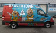 Mercedes Sprinter van fully vinyl wrapped for the Beavertown Brewery